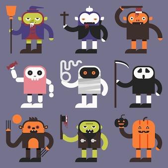 Personagens do dia das bruxas