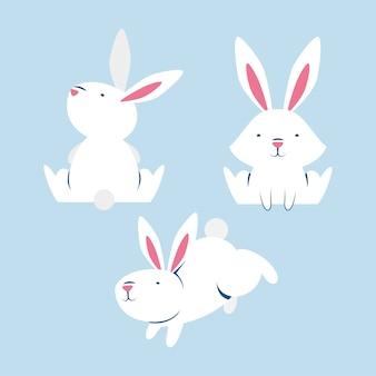 Personagens do grupo de coelhinhos