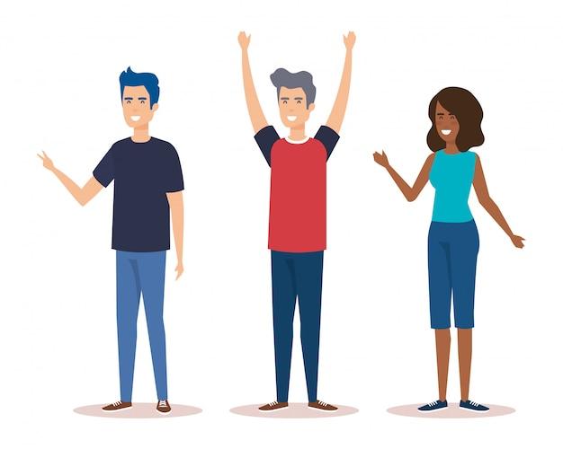 Personagens do grupo de pessoas
