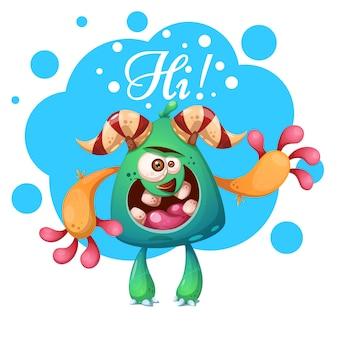 Personagens do monstro dos desenhos animados