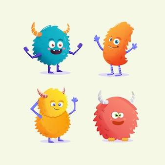 Personagens do monstro kawai
