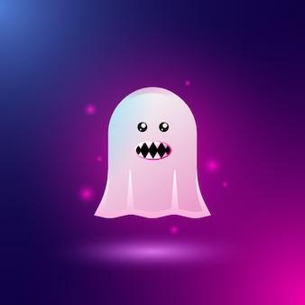 Personagens fantasmas para designs de halloween
