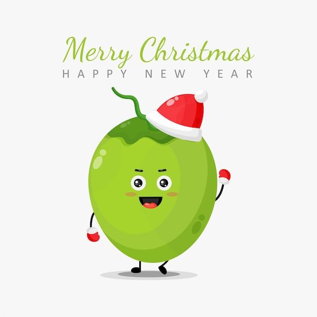 Personagens fofinhos de coco desejam a você um feliz natal