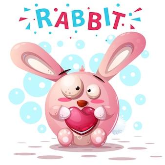 Personagens fofinhos de coelho