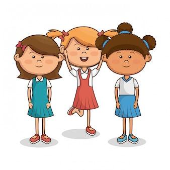 Personagens fofinhos de crianças