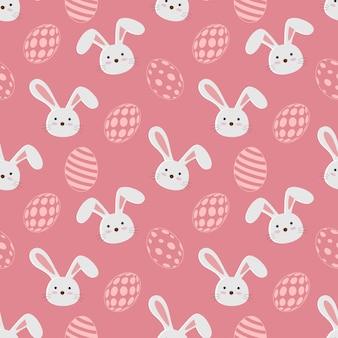 Personagens fofinhos de desenhos animados de padrão sem emenda de coelhos