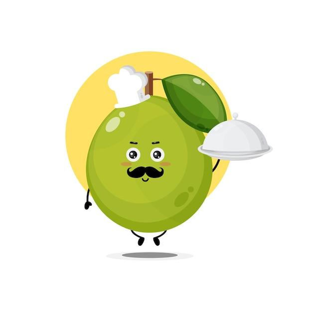 Personagens fofinhos de goiaba tornam-se chefs