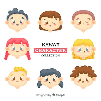 Personagens fofinhos de kawaii