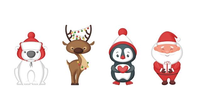 Personagens fofinhos de natal
