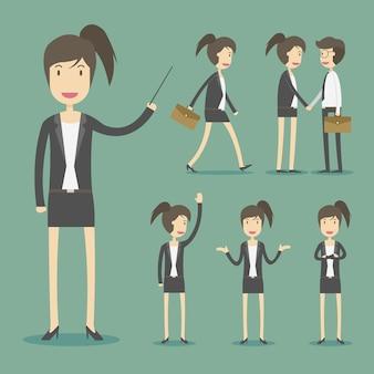 Personagens mulher de negócios