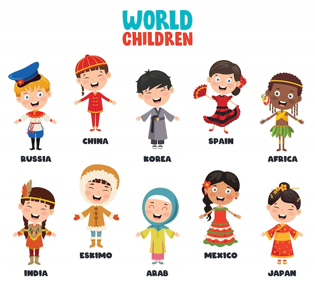 Personagens multiculturais do mundo