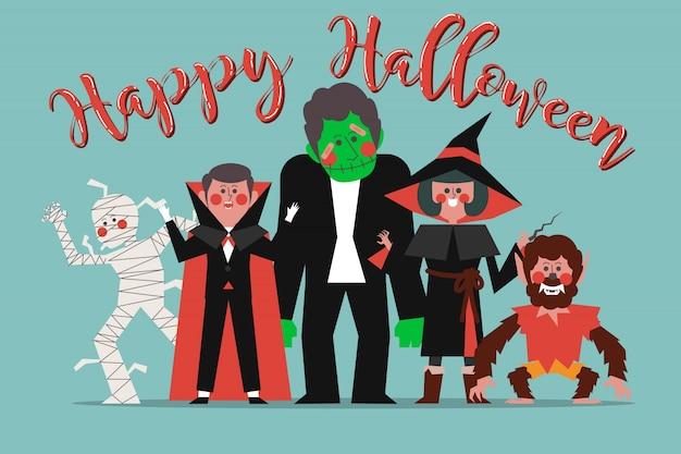 Personagens no halloween