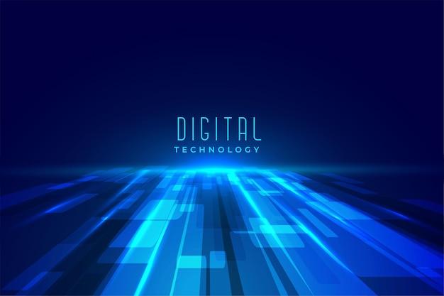 Perspectiva de tecnologia de piso digital futurista