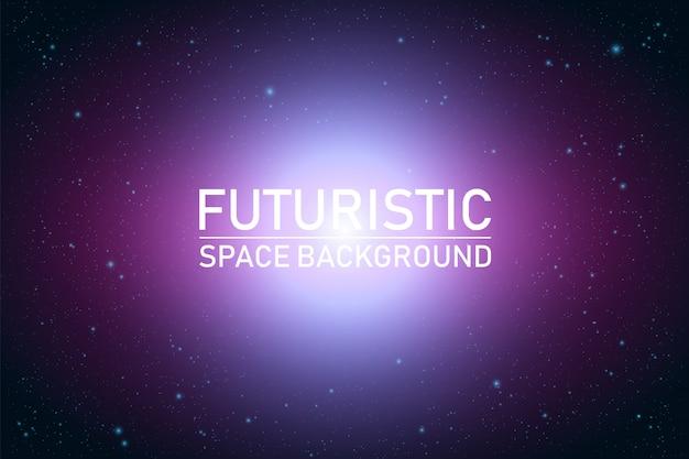 Perspectiva do espaço futurista abstrata