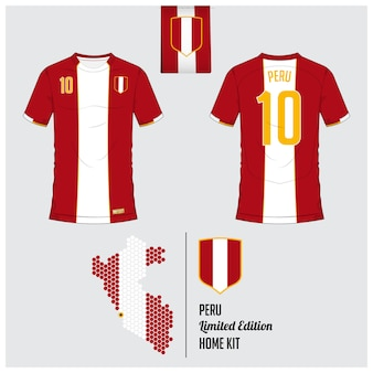 Peru soccer jersey ou modelo de kit de futebol