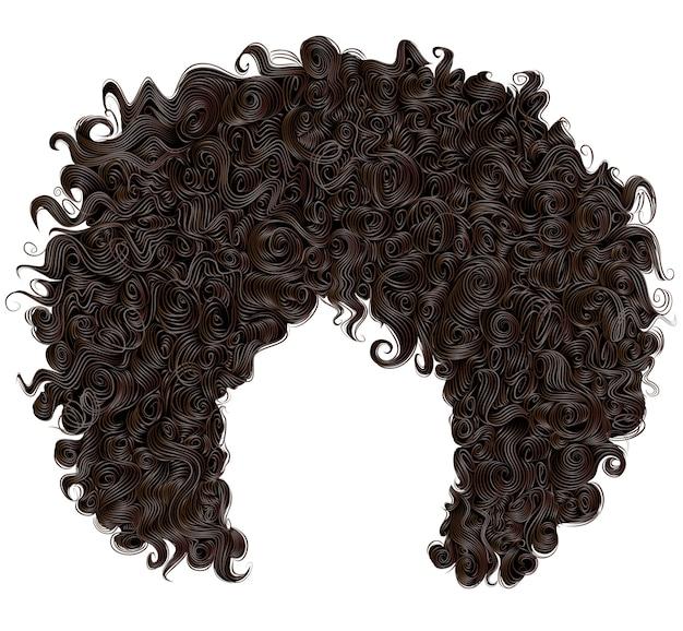 Peruca na moda encaracolado cabelo preto africano