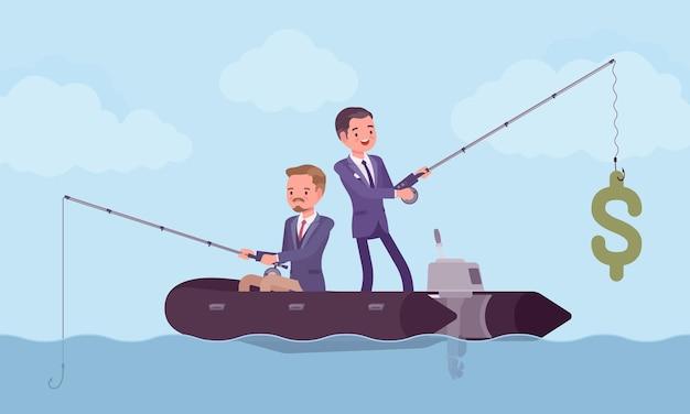 Pesca de negócios por dinheiro