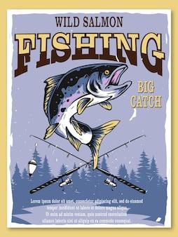 Pesca de salmão selvagem