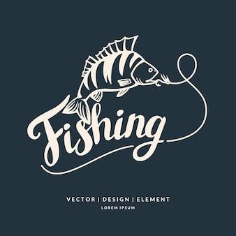 Pesca frase de letras desenhadas à mão moderna pincel e tinta de caligrafia