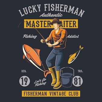 Pescador afortunado