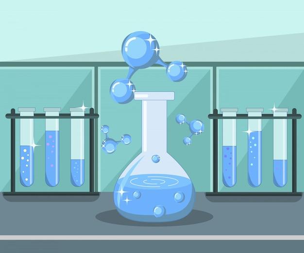Pesquisa de água, ilustração de análise de laboratório