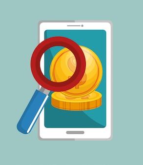 Pesquisa de aplicativos de dinheiro para smartphones