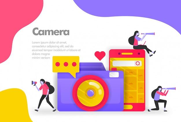 Pesquisa de câmera e imagem no banner para dispositivos móveis