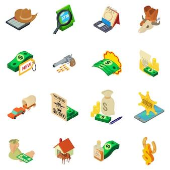 Pesquisa de conjunto de ícones de dinheiro