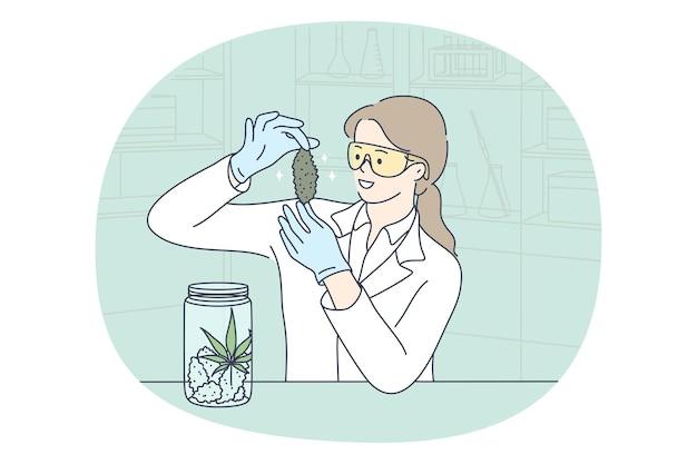 Pesquisa de laboratório e conceito de experimento químico