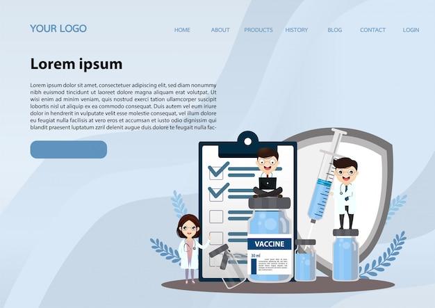 Pesquisa de laboratório médico com conceito da ilustração do tubo de vidro de ciência.