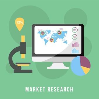Pesquisa de mercado de conceito de negócios