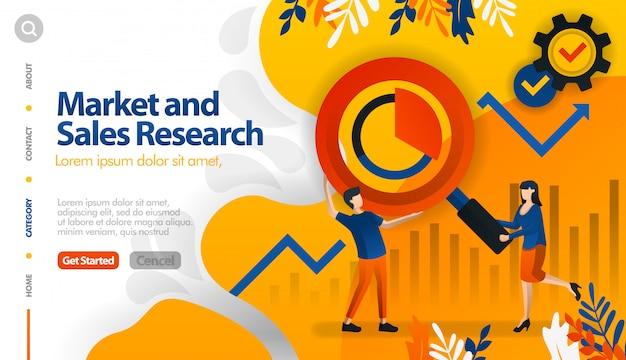 Pesquisa de mercado e vendas, marketing de alvo e vendas