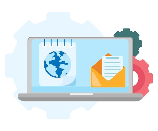 Pesquisa global do símbolo da web. ícone da internet. serviços de pesquisa. ilustração em vetor plana moderna isolada no fundo branco