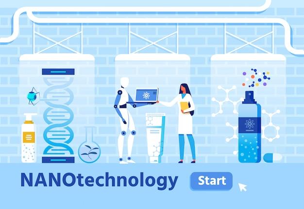 Pesquisa médica e criação de nanomateriais