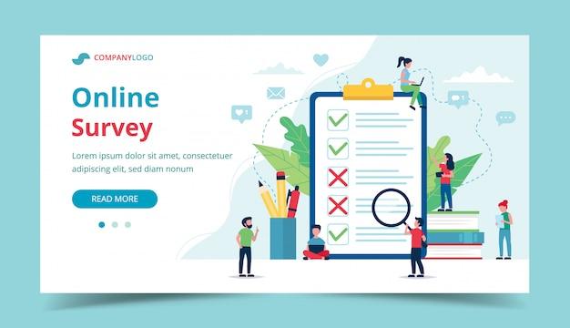 Pesquisa on-line de satisfação do cliente.