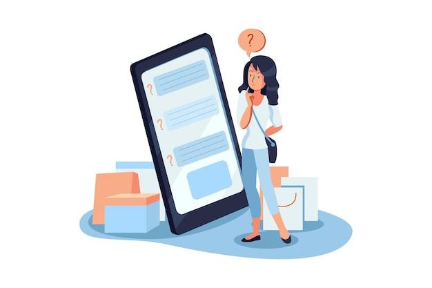 Pesquisa online para feedback do cliente ilustração
