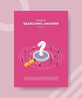 Pesquisando o conceito de resposta para modelo de banner e folheto para impressão