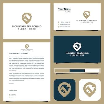 Pesquisar mountain logo premium
