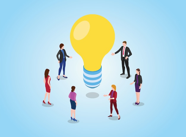 Pesquisar ou encontrar ideias ou conceito de solução com discussão de equipe debate sobre reunião