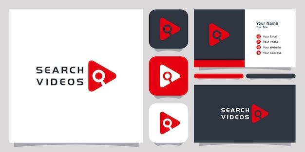 Pesquisar vídeos logo design ícone símbolo