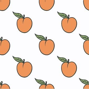 Pêssego padrão de fundo mídia social postar ilustração vetorial de frutas