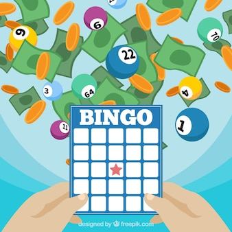 Pessoa com uma cédula de bingo