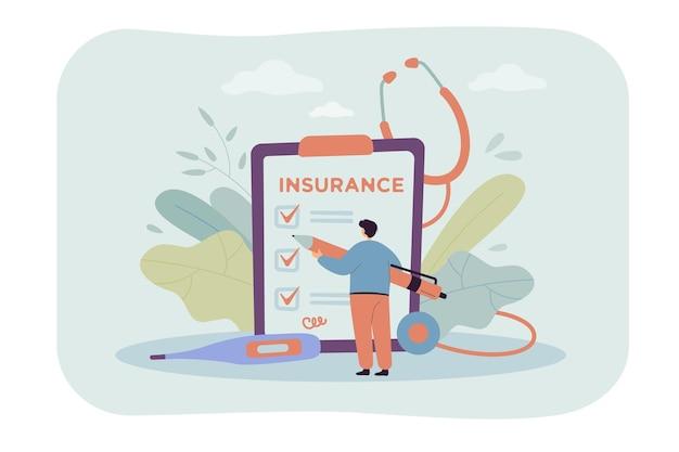 Pessoa estudando os termos e assinando contrato de seguro saúde