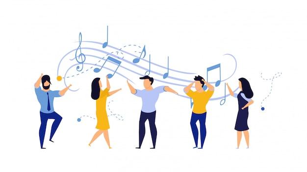 Pessoa pessoas vector ilustração dança festa mulher e homem.