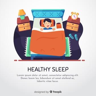 Pessoa, sleepng, cama, fundo, modelo