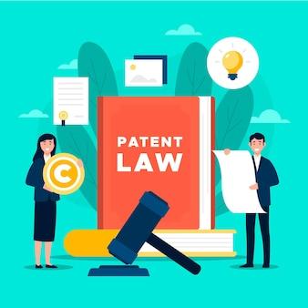 Pessoal e livro do direito de patentes