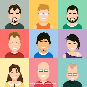 Pessoas agradáveis pacote de avatares