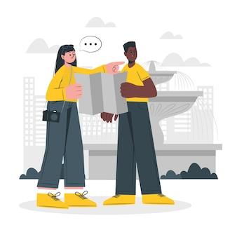 Pessoas ao ar livre ilustração do conceito