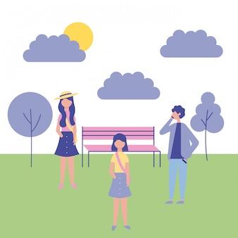 Pessoas atividades ao ar livre