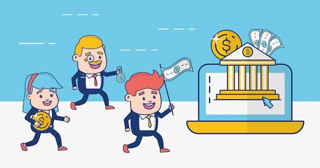 Pessoas bancárias online